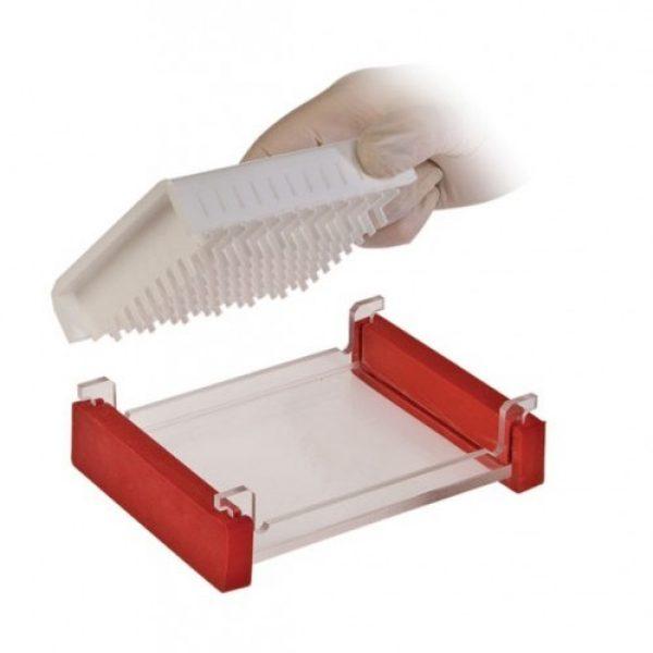 multiSUB midi 96 comb block, running tray with casting dams
