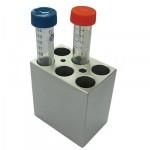 MD-MINI-B03Block, for 15ml tubes, 6 wells, 17.3mm, depth 70mm