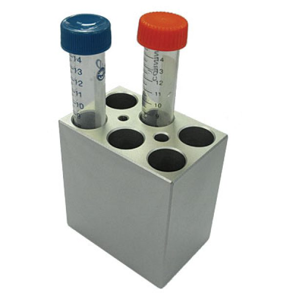 MD-MINI-B03	Block, for 15ml tubes, 6 wells, 17.3mm, depth 70mm