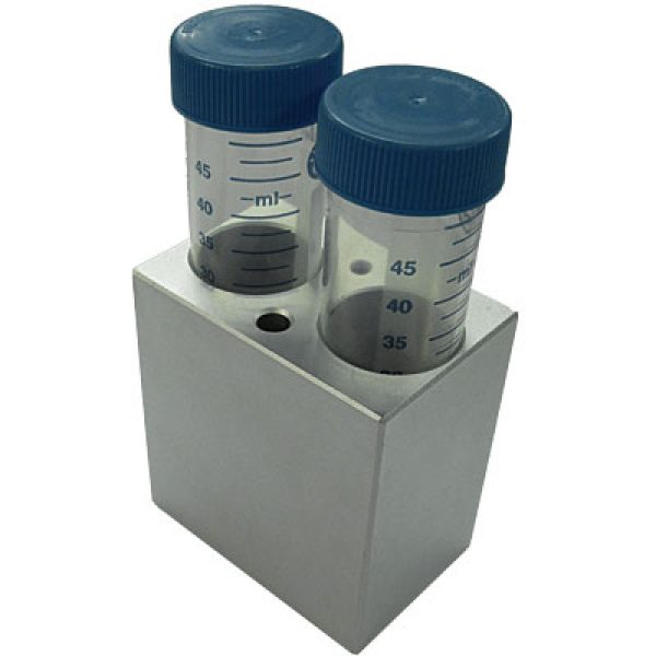 MD-MINI-B04	Block, for 50ml tubes, 2 wells, 29.2mm, depth 72mm