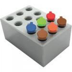 MD-MINI-B05Block, for 0.5ml tubes, 12 wells, 8.0mm, depth 25mm