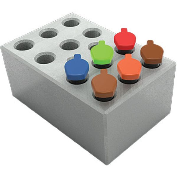 MD-MINI-B05	Block, for 0.5ml tubes, 12 wells, 8.0mm, depth 25mm