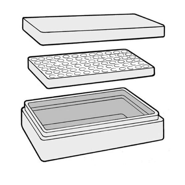 Three part construction: Lid, Base and Insert Tray